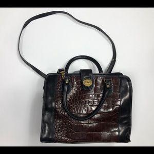 Brahmin Vintage Leather Crossbody Tote Bag